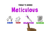 Word of the Week Vocabulary: METICULOUS: Video + Online Qu