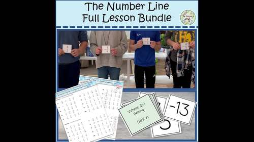 Number Line Lesson Bundle--Games, Hands-on Materials, Fractions & Integers