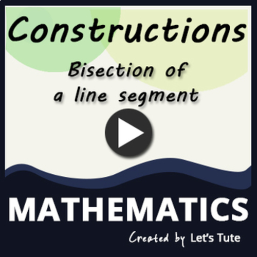 ee70cd76a697 Mathematics Construction - Bisection of a line segment. (Geometry ...