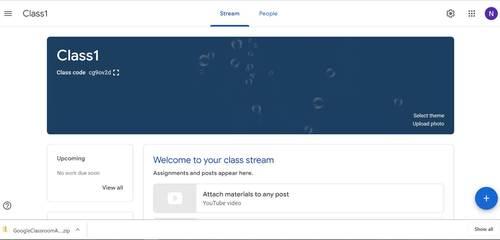Google Classroom Animated Headers (Bubbles)
