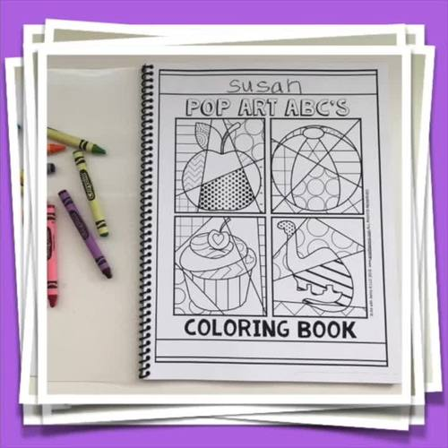26 Alphabet Letters ABC Coloring Book For Back To School By Art With Jenny K