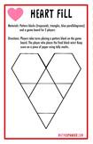 Heart Fill - Valentine's Day Pattern Block Math Game