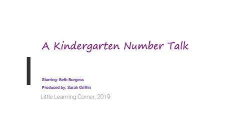 Daily Math Talks   Kindergarten Number Talks Bundle
