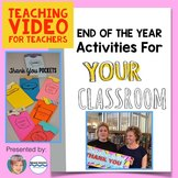 End of the Year activity: FREE Thank you Poster & Pocket Notes