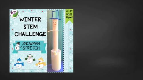Winter_Christmas STEM Challenge: Snowman Stretch
