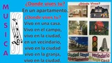 ¿DONDE VIVES? SONG SPANISH