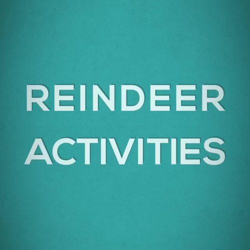 December Sub Plans Reindeer Activities