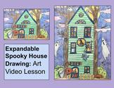 Halloween House Expandable Drawing