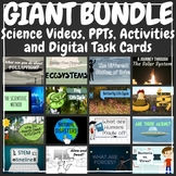 Science Videos, PPTs, Activities, and Task Cards Giant Bundle!