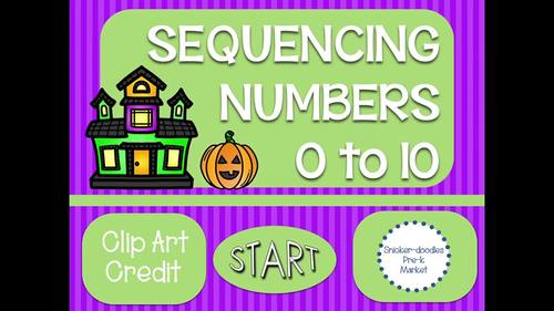 MONSTER NUMBER SEQUENCING 0 TO 30