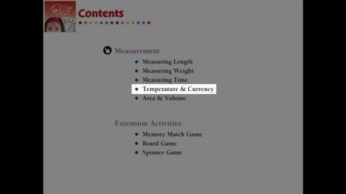Measurement: Temperature & Currency - Pre-Assessment & Teach the Skill - MAC
