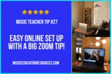 Easy Online Lesson Set Up for Distance Learning in Music