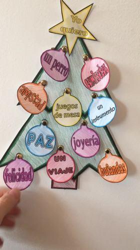 Christmas Tree List Spanish Christmas/Navidad Project