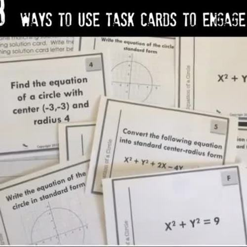 Greatest Common Factor GCF and LCM Word Problems Task Card Activity