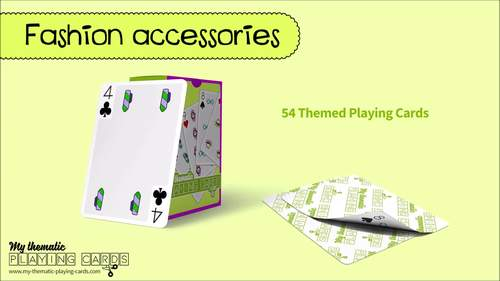 Fashion accessories Themed Playing Cards Deck