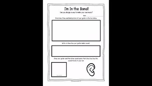 I'm In the Band: A Sound Exploration- 1st Grade NGSS Aligned Lesson (1-PS4-1)