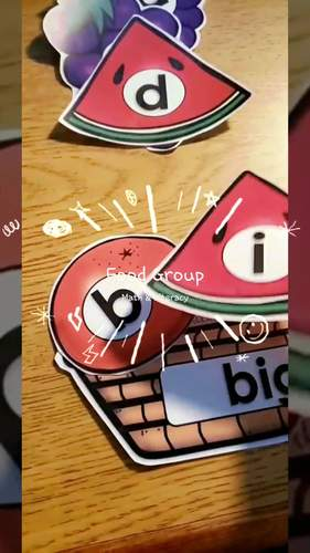 FOOD GROUPS|MATH & LITERACY