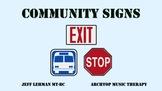 Environmental Print Songs & Videos - Community Signs (Symbols)