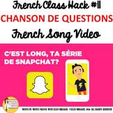 """11 French Class Transition Video """"Questions"""" for CI TCI TP"""