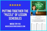 "Music Teacher Tip #16: Putting Together the ""Puzzle"" of Le"