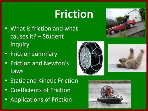 Friction Lesson - Interactive Physics Lesson Package and Challenge Lab
