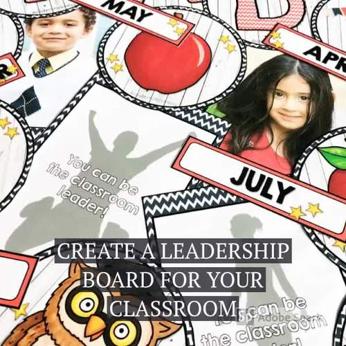 Leadership Classroom Leader of the Month Bulletin Board