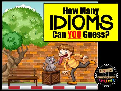 Idioms PowerPoint Slideshow with 100 Idioms and Fun