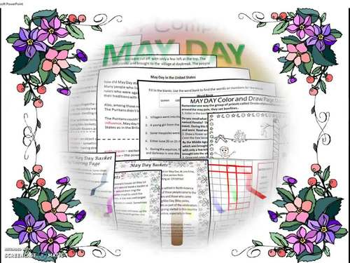 Distance Learning May Day Writing, Reading, and Craftivity