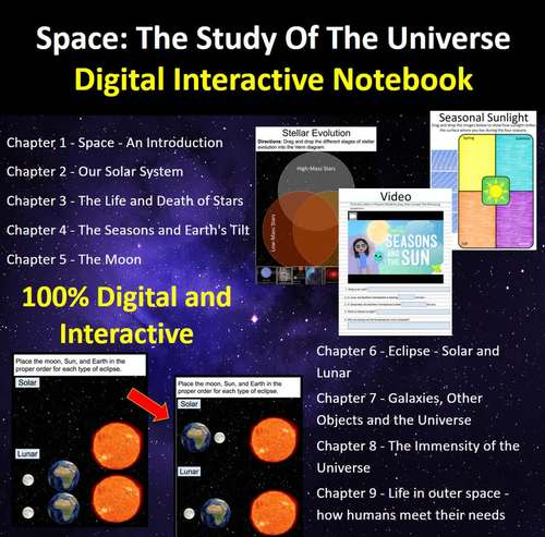 Space: The Study Of Our Universe - Digital Interactive Notebook