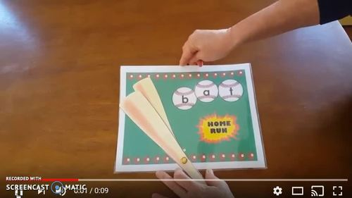 Distance Learning Batter Up Task Cards Blend to Read CVC Words Short o