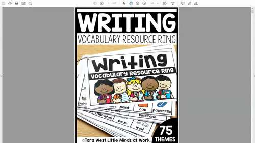Writing Resource Ring + Response Sheets