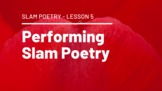 a) Performing Slam Poetry G3 L05