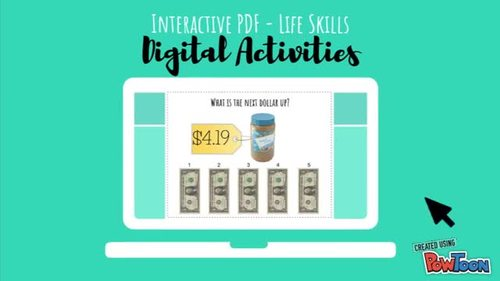 US Money Names & Values Digital Activities