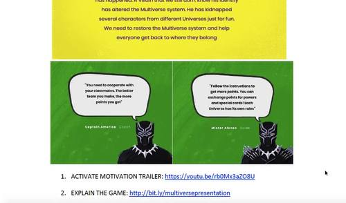 English Speaking Time Cards - Multiverse Game