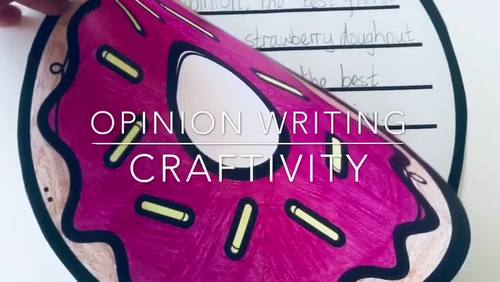 Opinion Writing Craftivities (Writing Prompts & Crafts)