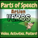 English Grammar ESL Action Verbs Teaching Video, Worksheet