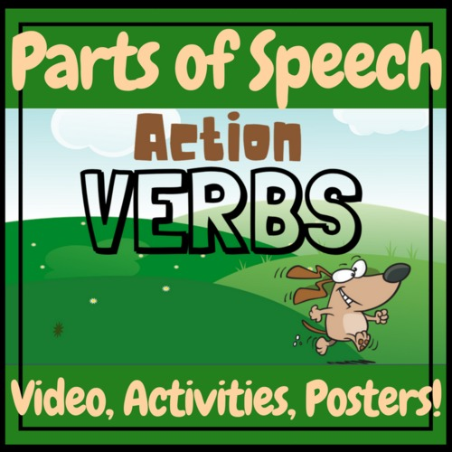 English Grammar ESL Action Verbs Teaching Video, Worksheets, And Posters