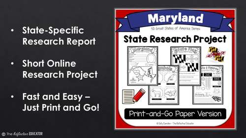 State Research Project: MARYLAND (Print-and-Go Paper State Report)