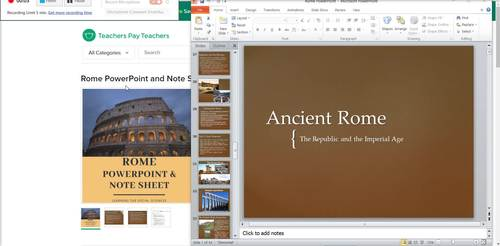 Rome PowerPoint and Note Sheets