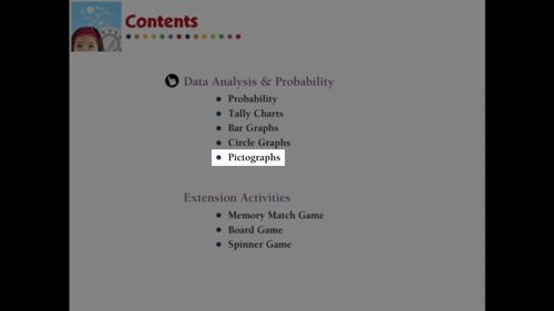 Data Analysis & Probability: Pictographs Practice the Skill 2 NOTEBOOK Gr. PK-2