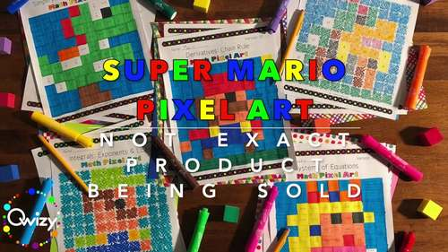 Super Mario: Algebra Factoring #1 Pixel Art - Distance Learning Compatible