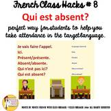 """8 French Class Transition Video """"Who is Absent"""" for CI TCI"""