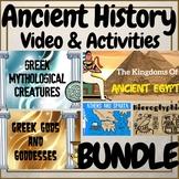 Ancient History Civilizations Video & Activities BUNDLE!