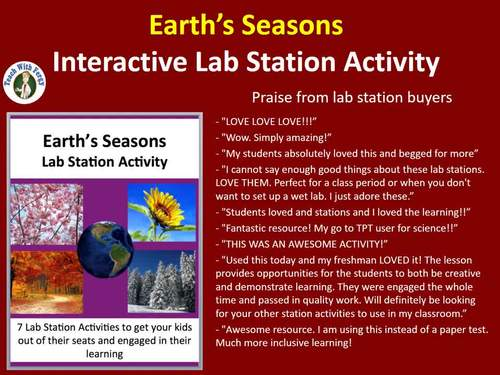 Earth's Seasons - 7 Engaging Lab Stations