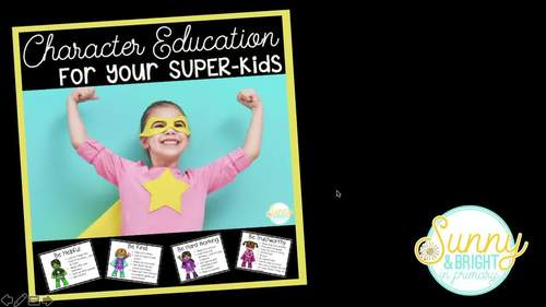 Superhero Themed Character Education Set