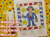NO PREP American Revolution Review Activity {Color by fact}