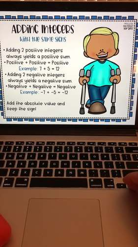 Inclusive Rule Posters for Adding and Subtracting Integers