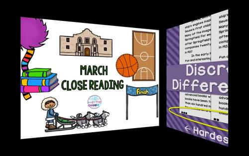 March Nonfiction Close Reading Comprehension Passages and Questions