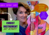 CUBIST Stringed Instrument Activity! Make a CUBIST GUITAR!