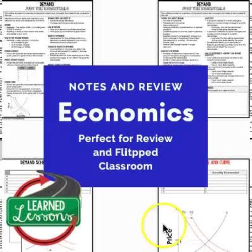 Economics Outline Notes, Bullet Notes, Test Prep, Free Enterprise BUNDLE